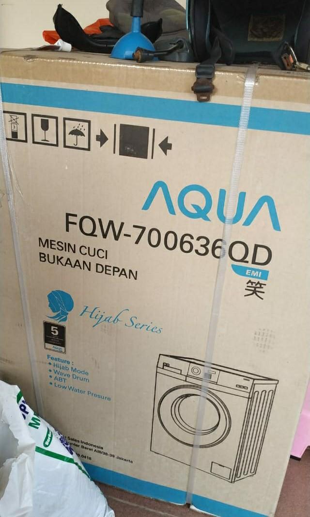 Mesin cuci aqua fqw-700636qd masih baru banget