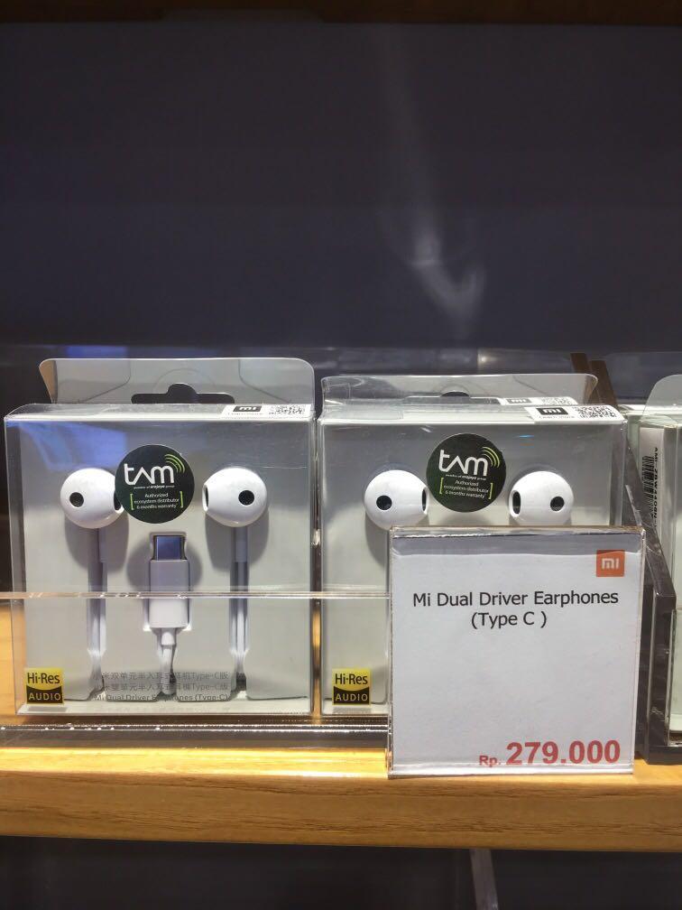 Mi dual driver earphones (type C)