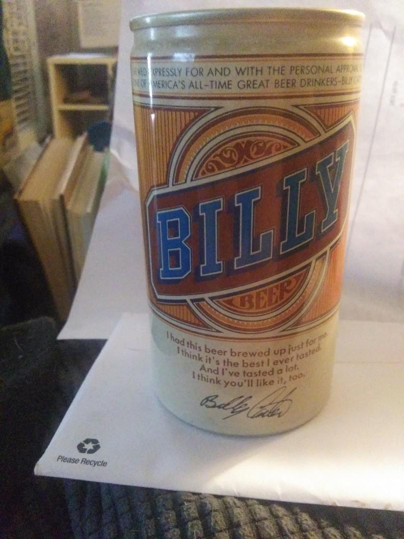 Mint condition full can of BILLY BEER!