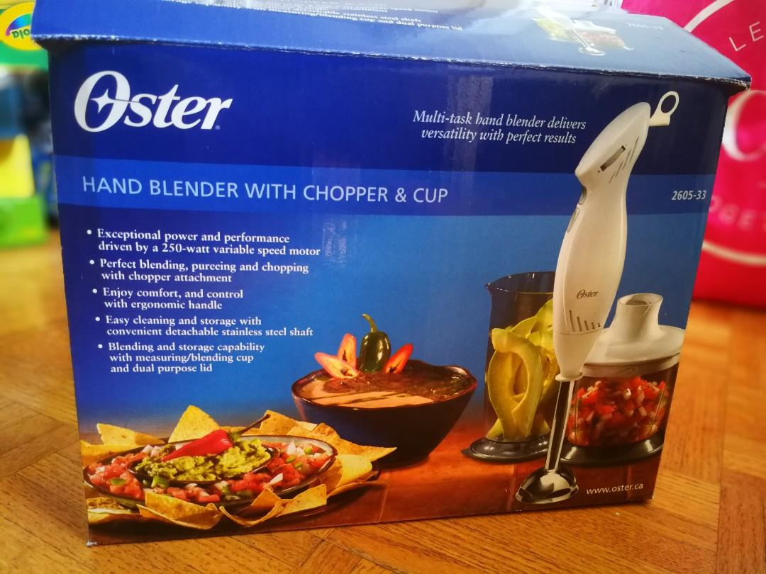 Oster Hand Blender with chopper and cup