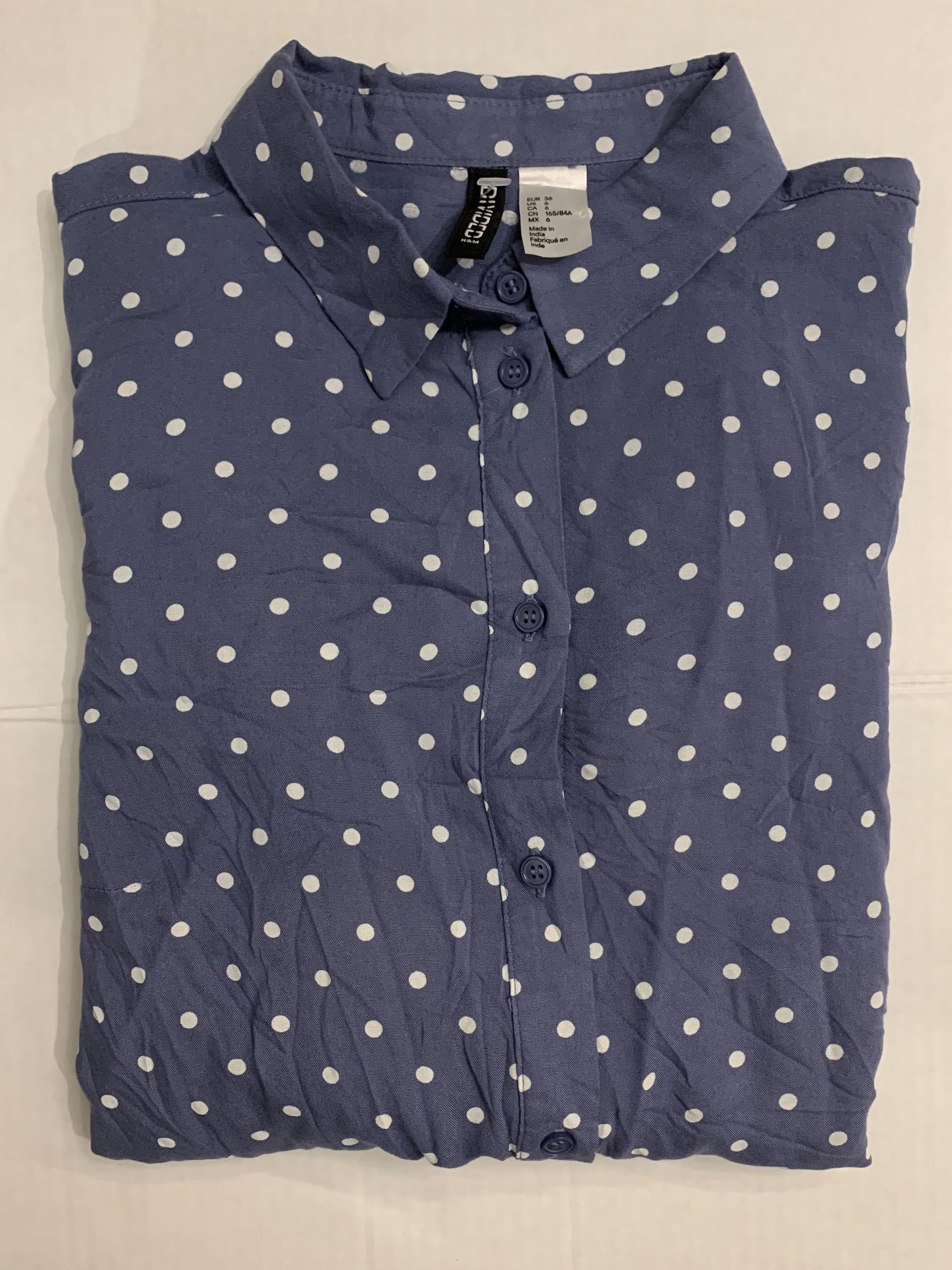 Polka dot women's shirt blous