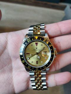 Rolex GMT Master 16713 Ruby Sultan Dial Full Set