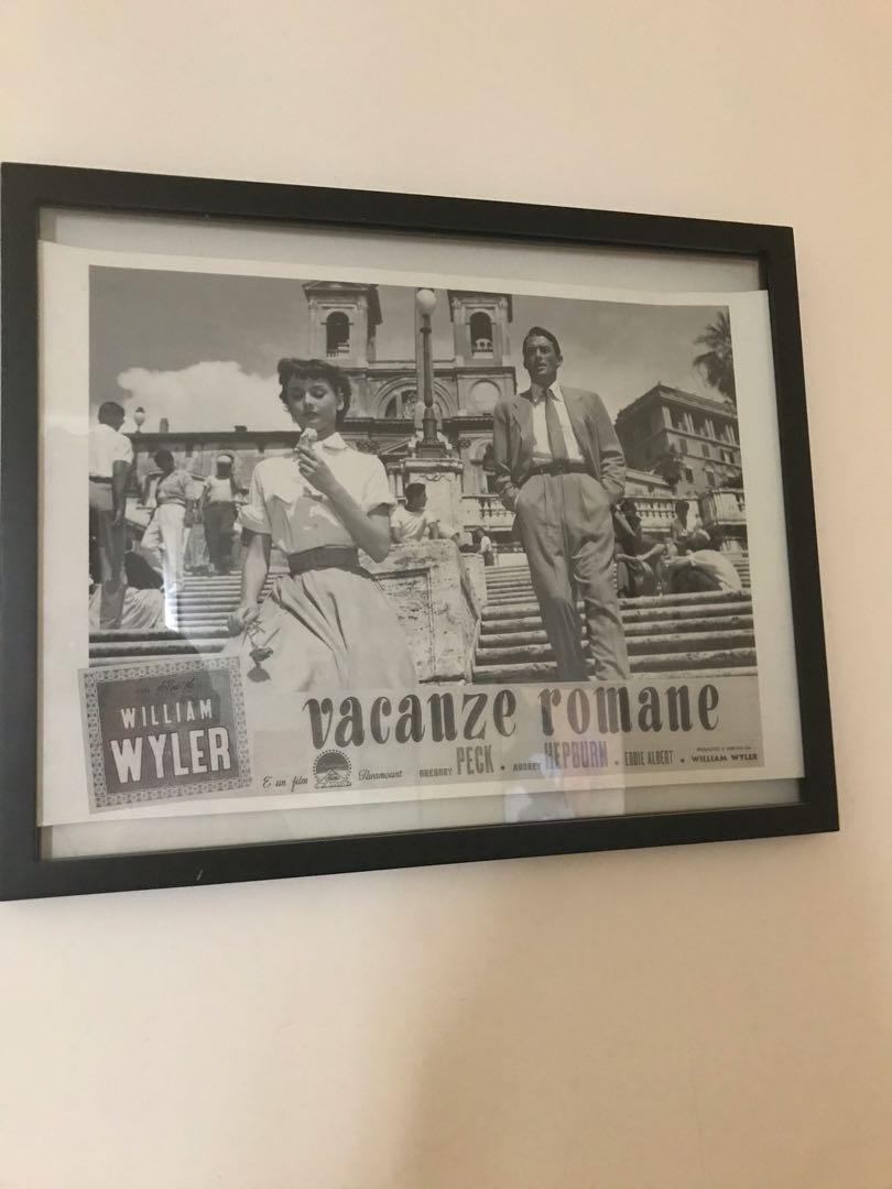 Roman holiday picture in frame
