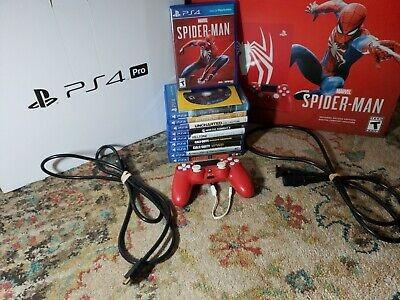 Sony PlayStation 4 Pro Marvel's Spiderman 1TB Limited Edition Console & More!