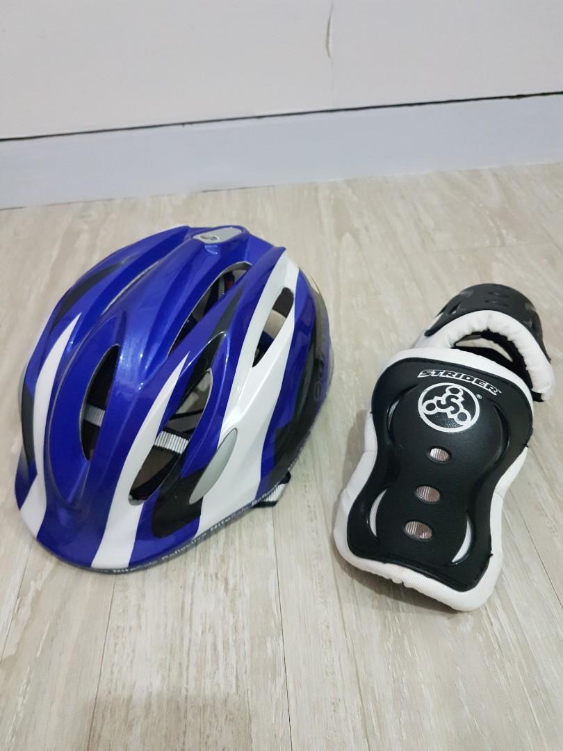 捷安特兒童自行車安全帽/頭盔+STRIDER護膝
