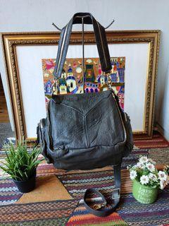 Tas Finn Esker Full Elephant Leather 3 Ways, Carry & Sling Bag, Authentic