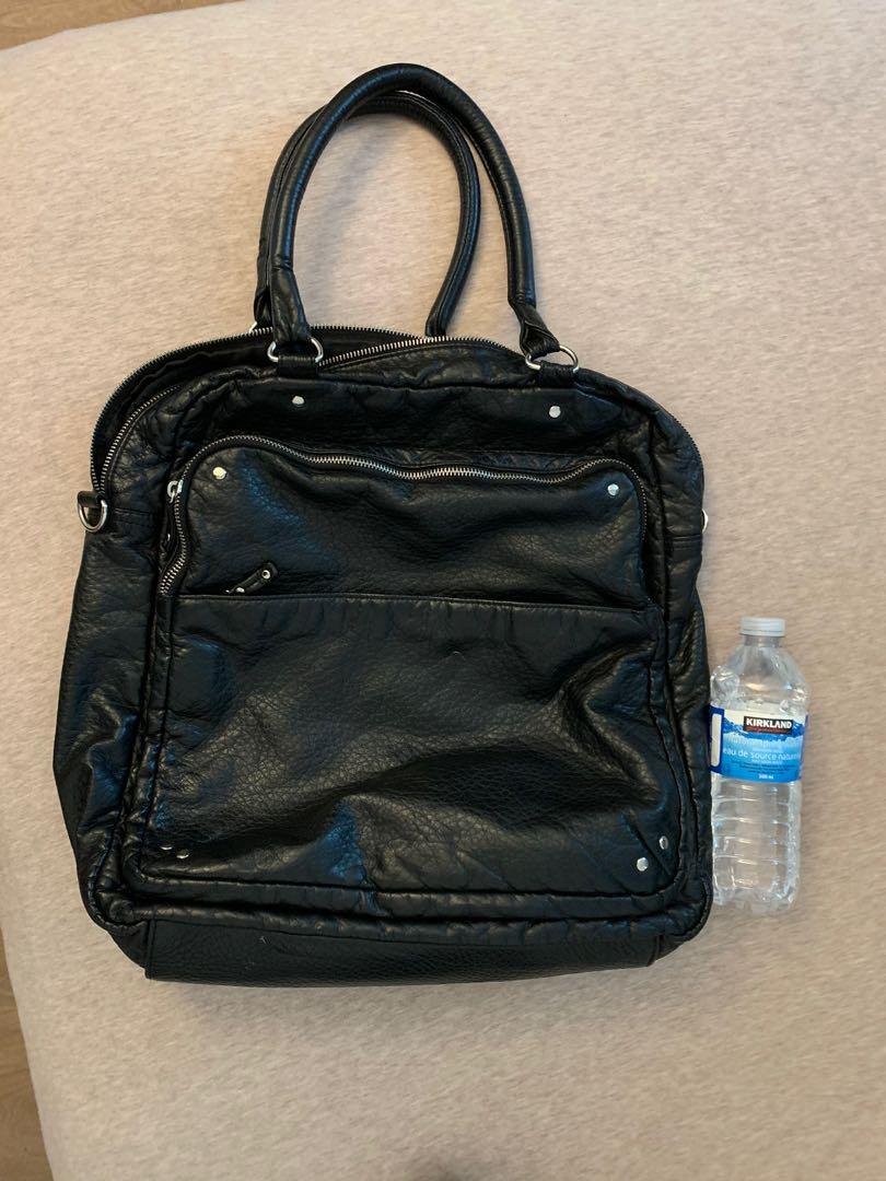 Topshop faux leather large tote