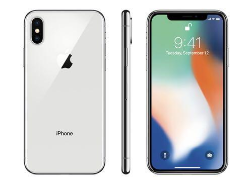 Unlocked White IPhone X 256GBs comes with blue case