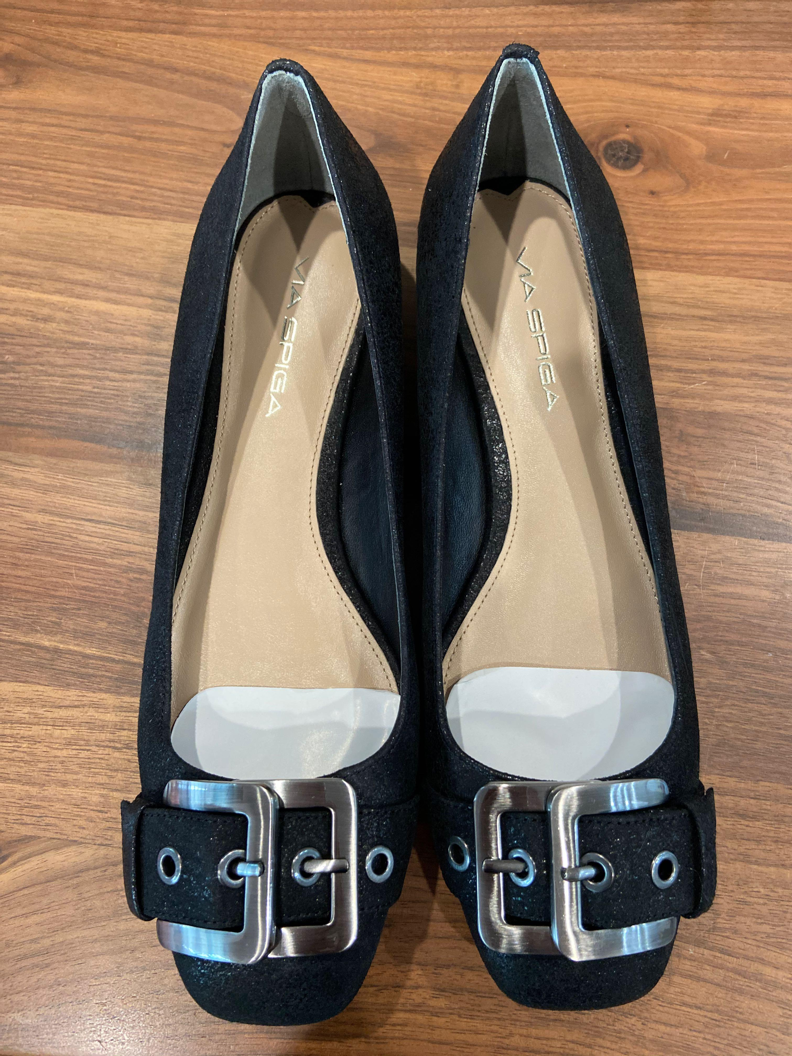 Via Spiga black kitten heels size US6.5