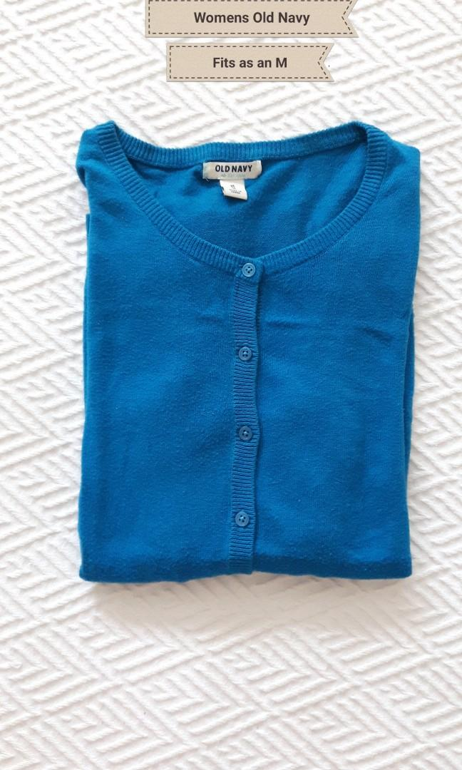 Vivid Blue Cardigan- Fits like a size M- Old Navy- Like New