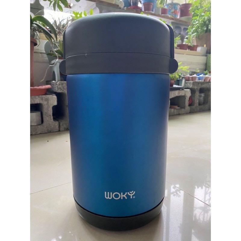 [WOKY沃廚]304不鏽鋼背帶式燜燒保溫罐1700ML/露營/野餐必備