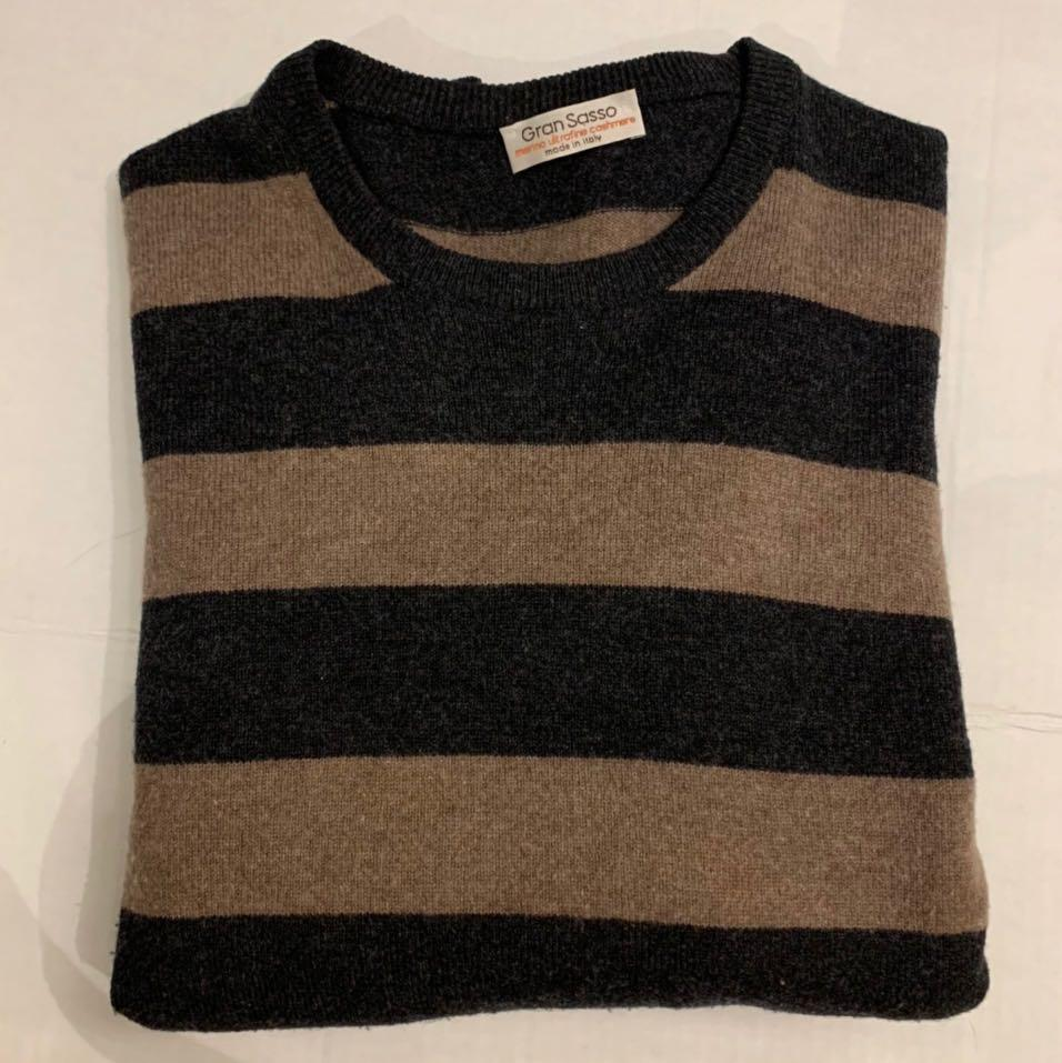Wool cashmere sweater men's medium