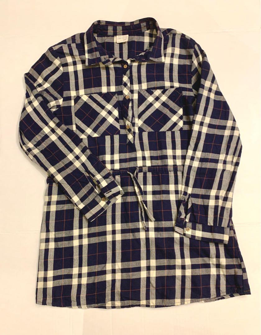 Zara plaid shirt dress