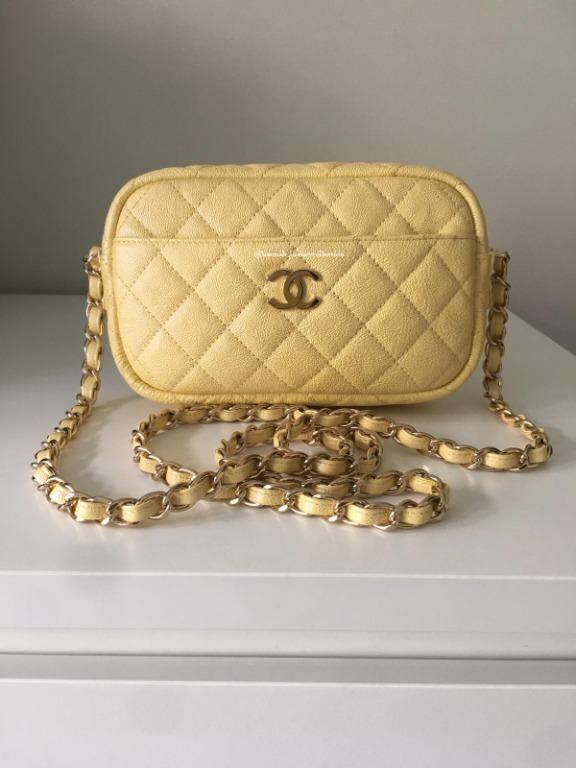 19S Chanel Yellow iridescent Camera Bag