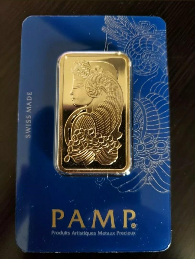 1 ounce Pamp Sussie gold bar