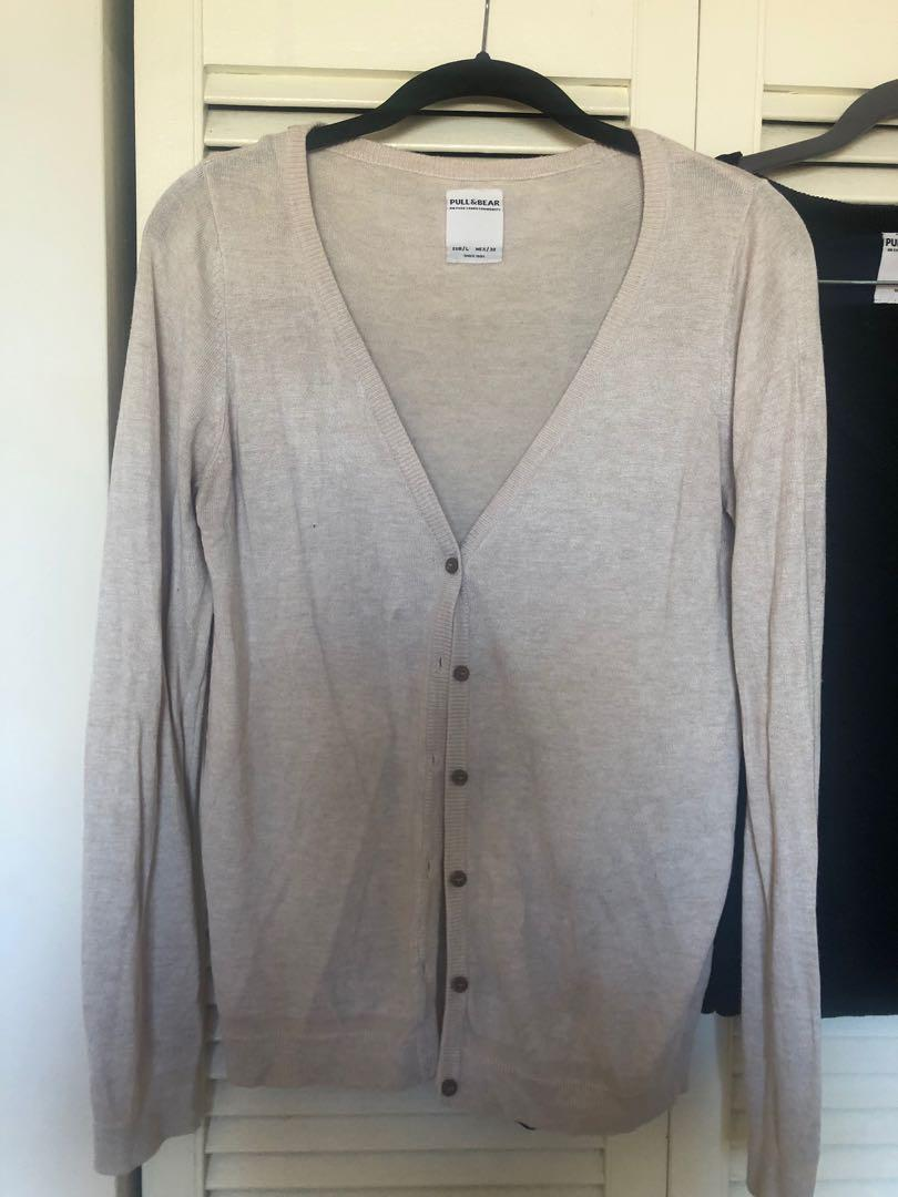 2 V Neck Button Up Sweaters
