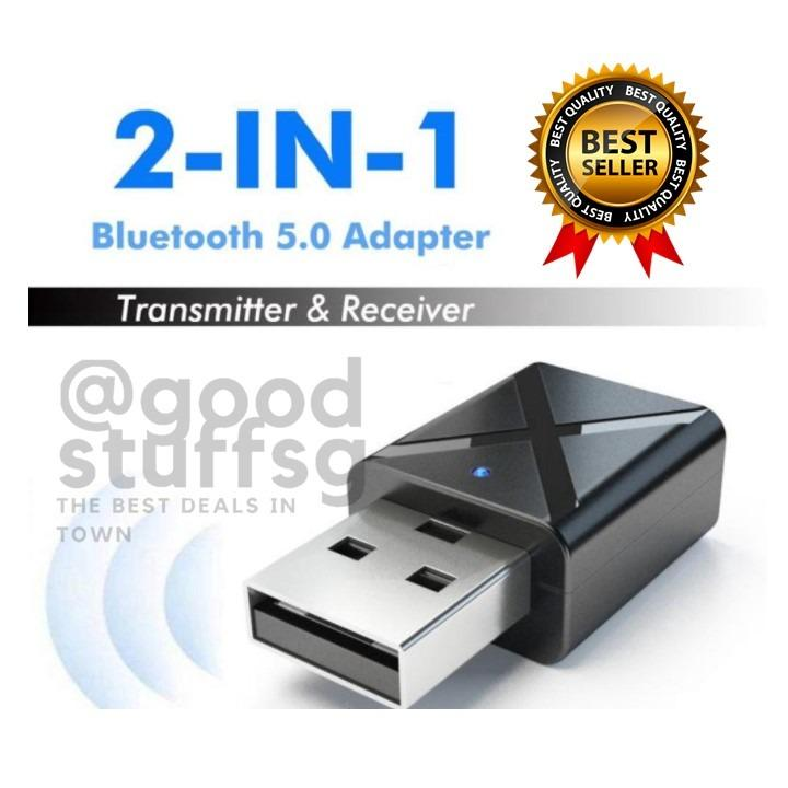 Upgraded USB Bluetooth Transmitter Receiver 3 in 1 HIFI Wireless Audio Adapter with 3.5mm AUX Bluetooth 5.0 EDR Adapter Dongle for TV PC Headphones Home Stereo Car USB Power Supply//Plug and Play