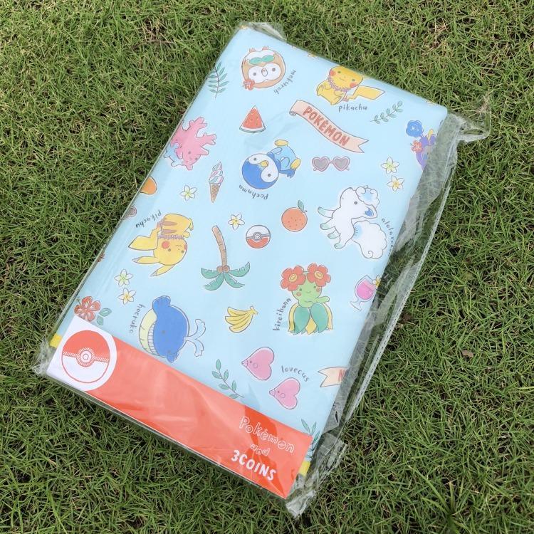 日本3COINS x POKEMON寶可夢塗鴉插畫風 皮卡丘  野餐墊 地墊 日本限定