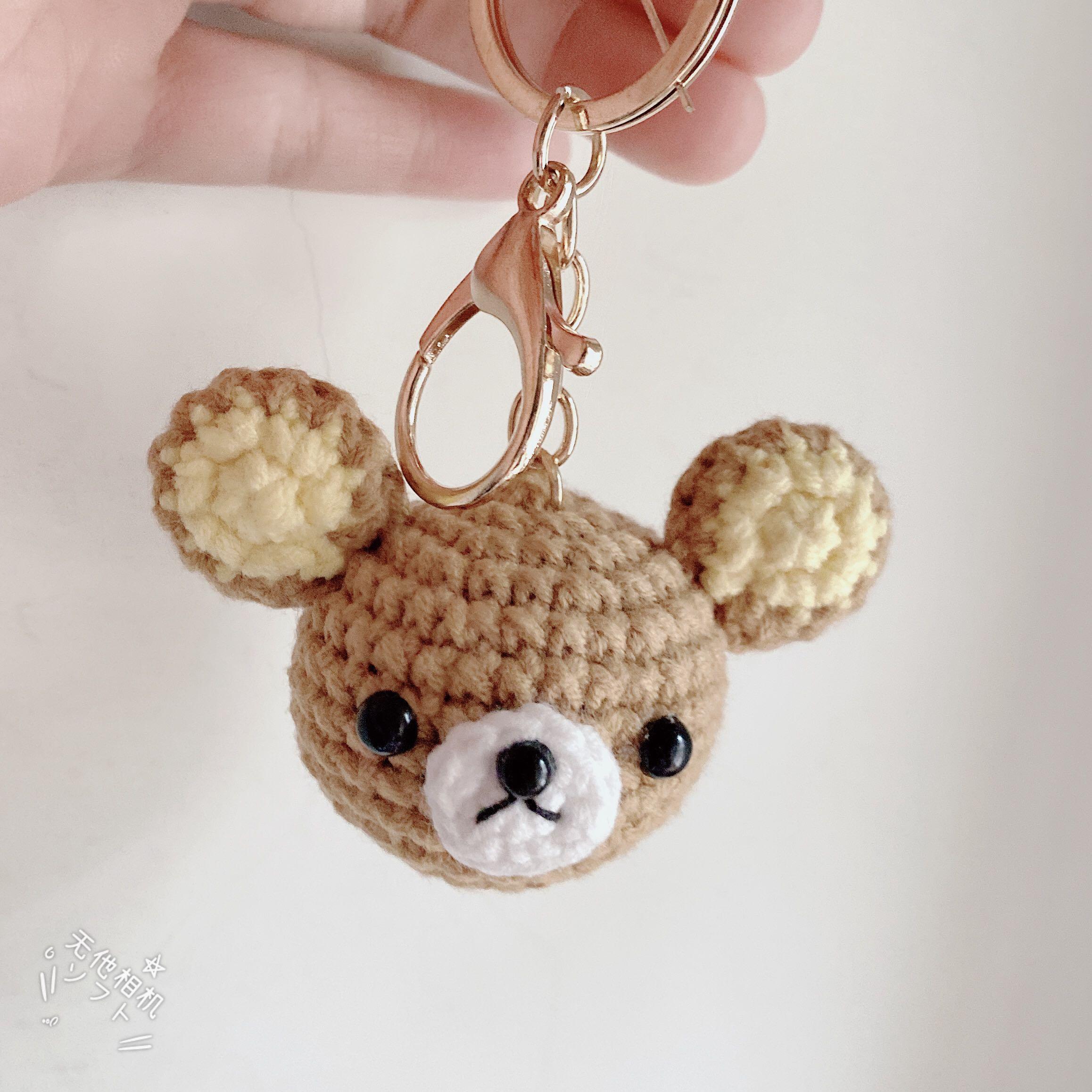 手作毛線🧶拉拉熊編織鑰匙圈
