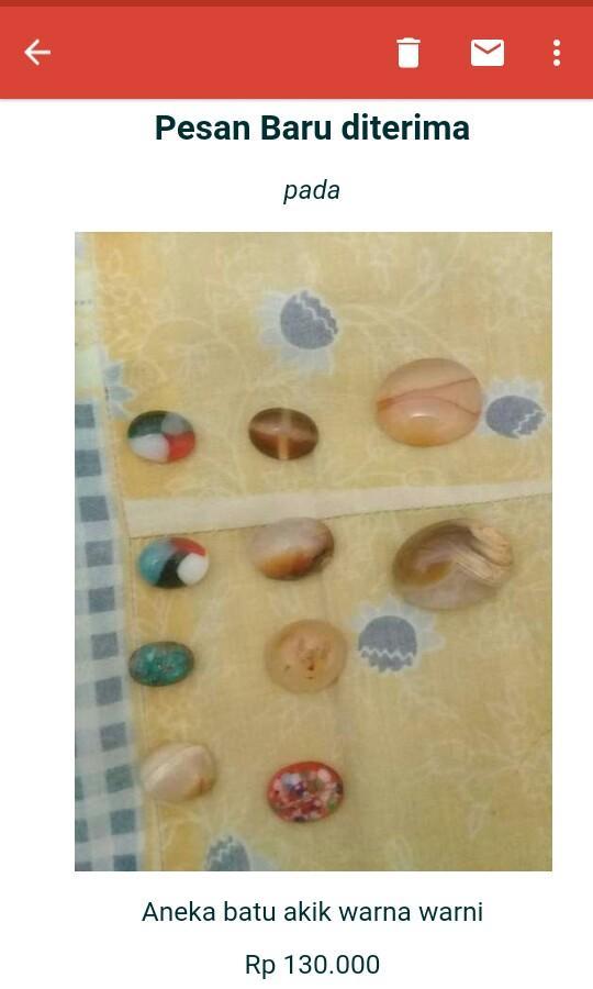 Aneka batu akik warna warni utk perhiasan
