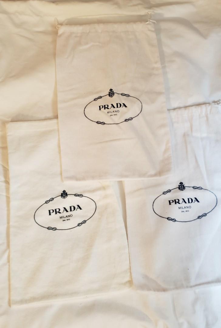 Authentic Prada Drawstring Dust Bag