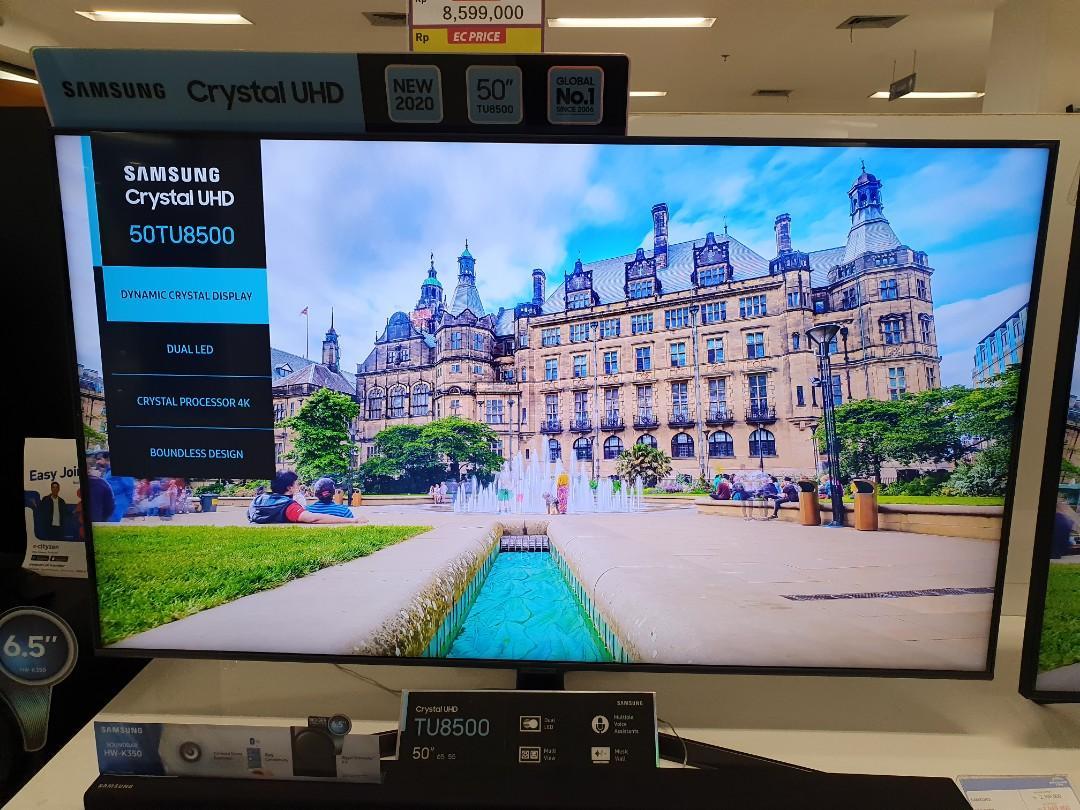 """Bisa Cicil Led Samsung 50"""" Crystal UHD Smart Tv Proses 3 Menit"""