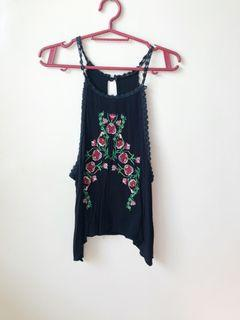 Black embodied top