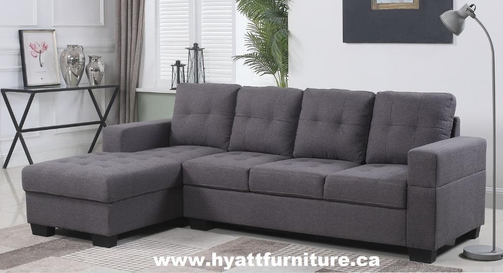 Brand new Compact Fabric Sectional Sofa set