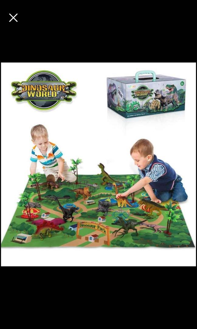 Brand new Dinosaur Toy Figure w/ Activity Play Mat & Trees