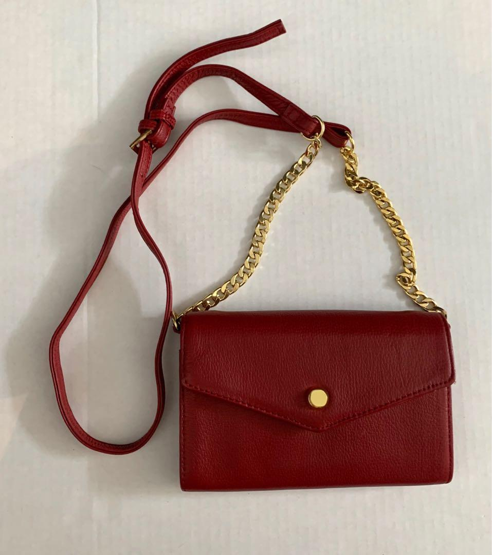 Cute leather wallet on chain