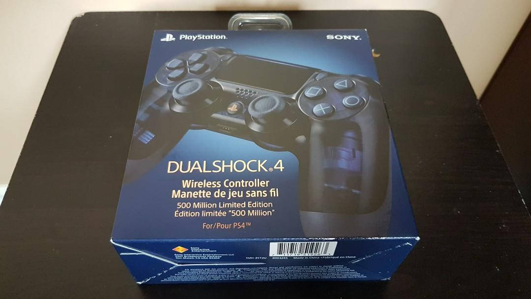 Dualshock 4 Wireless Controller 500 Million Limited Edition *SEALED*