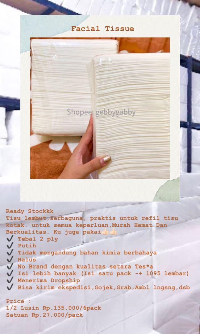 Facial Tissue/Tissue Wajah/Tissue Gulung