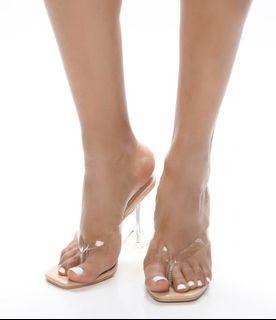 FashionNova - Clarity heeled sandals