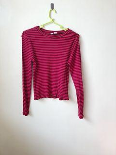 H&M red long sleeves