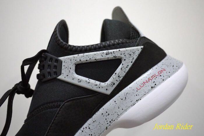 Jordan Rider 喬丹騎士 NIKE Air Jordan Fly 89 AJ 4代 輕量 襪套 慢跑鞋 黑色 白底 灰色 大理石紋 Cement