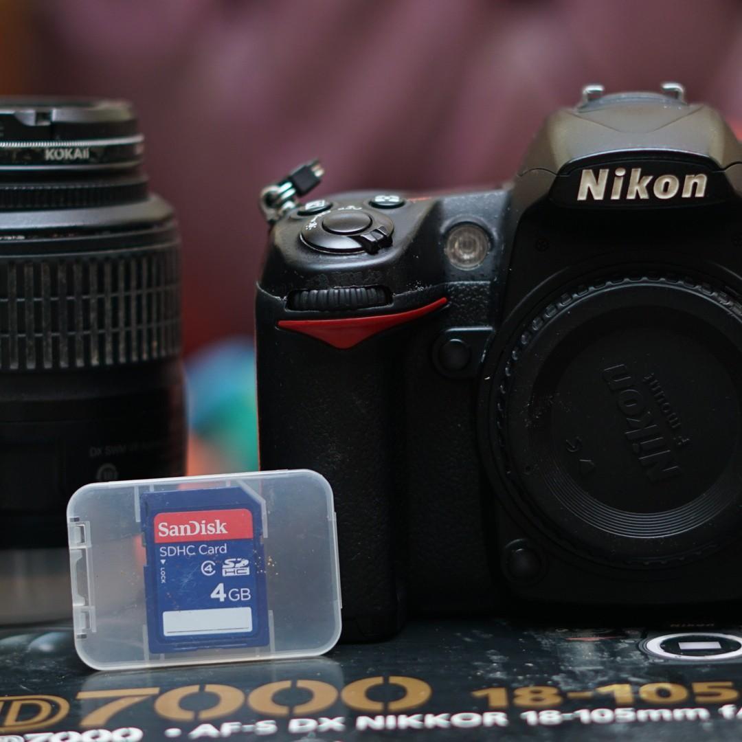 Kamera DSLR Nikon d7000 KIT 18-55mm murah good condition