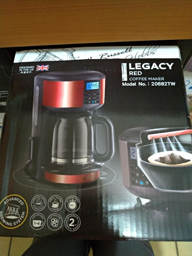Russell Hobbs 羅素 Legacy Red Coffee Maker 20682TW