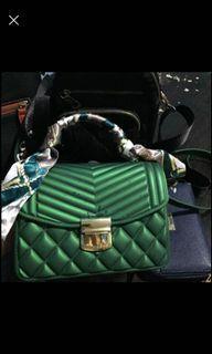 #lemarirapi Jelly Bag Green