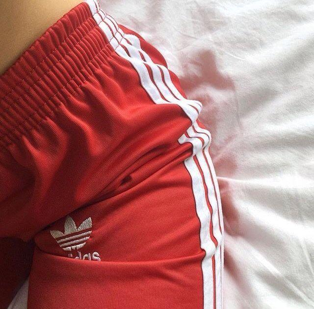 XS Red Adidas Pants