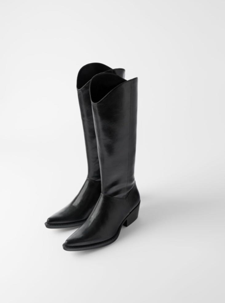 Zara Cowboy Boots New Without Tags