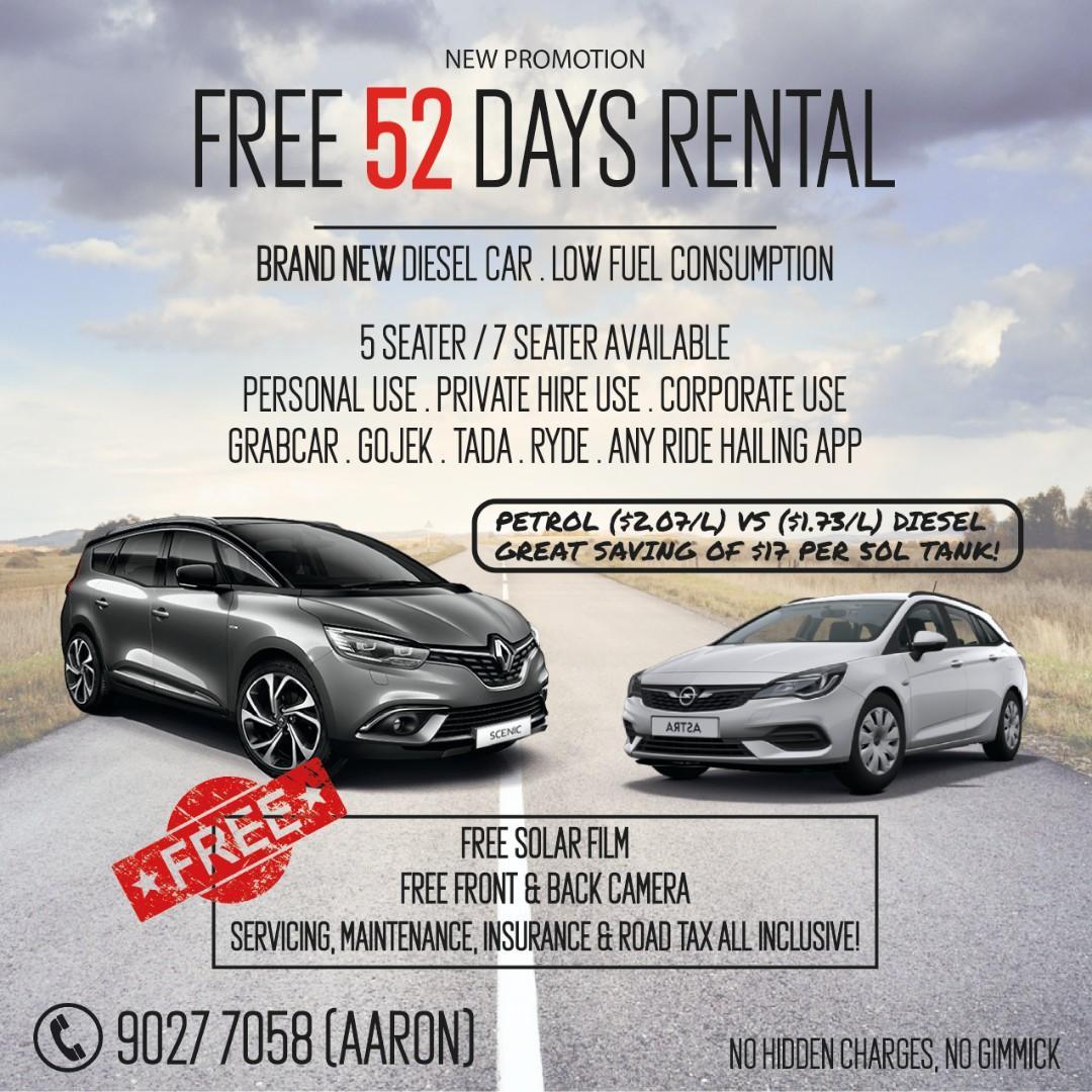 52 days FREE rental