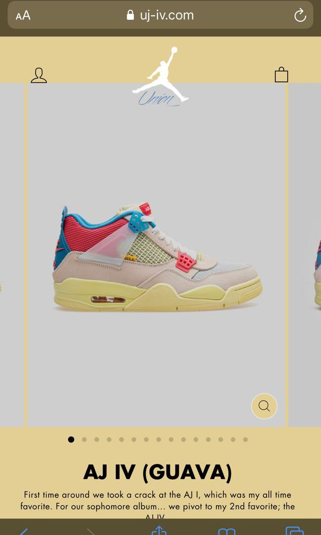 Air Jordan 4 union guava ice