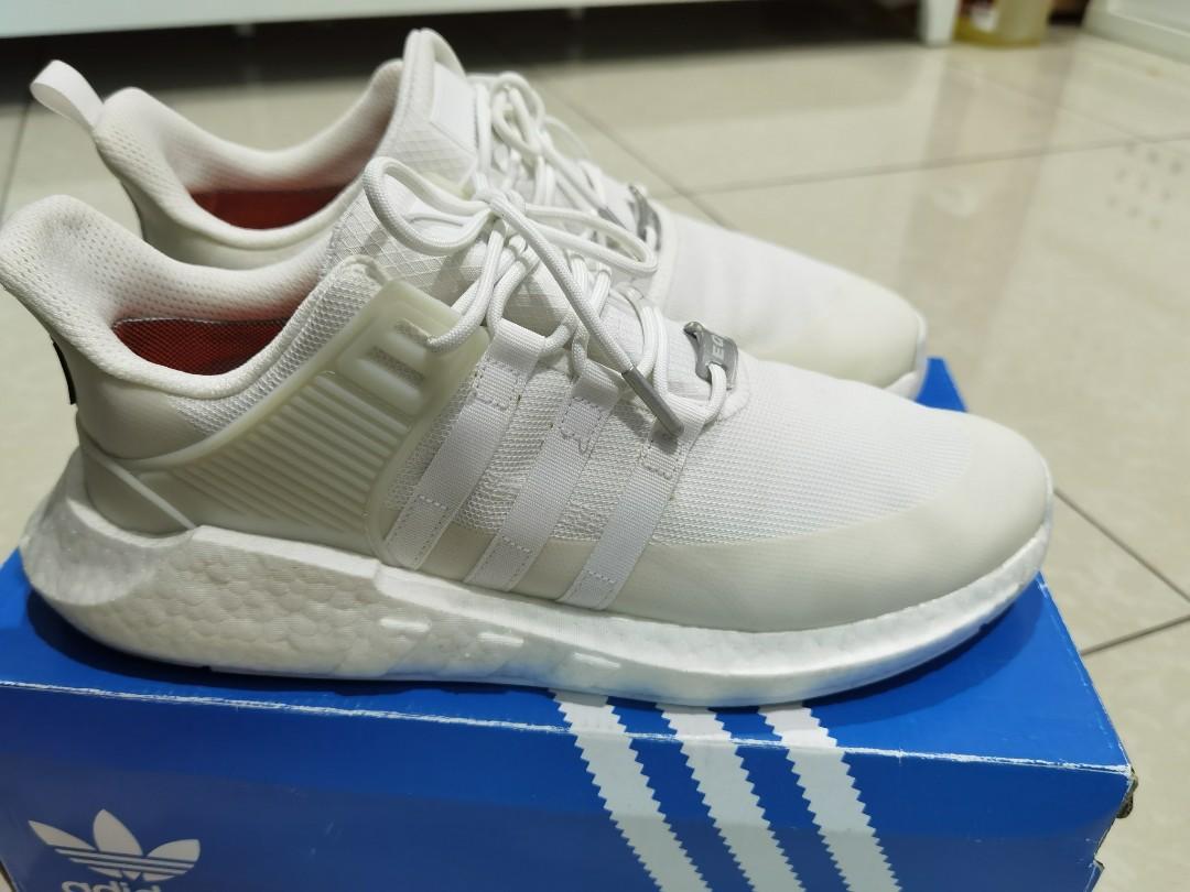 All White Adidas EQT GoreTex Sz 45, Men