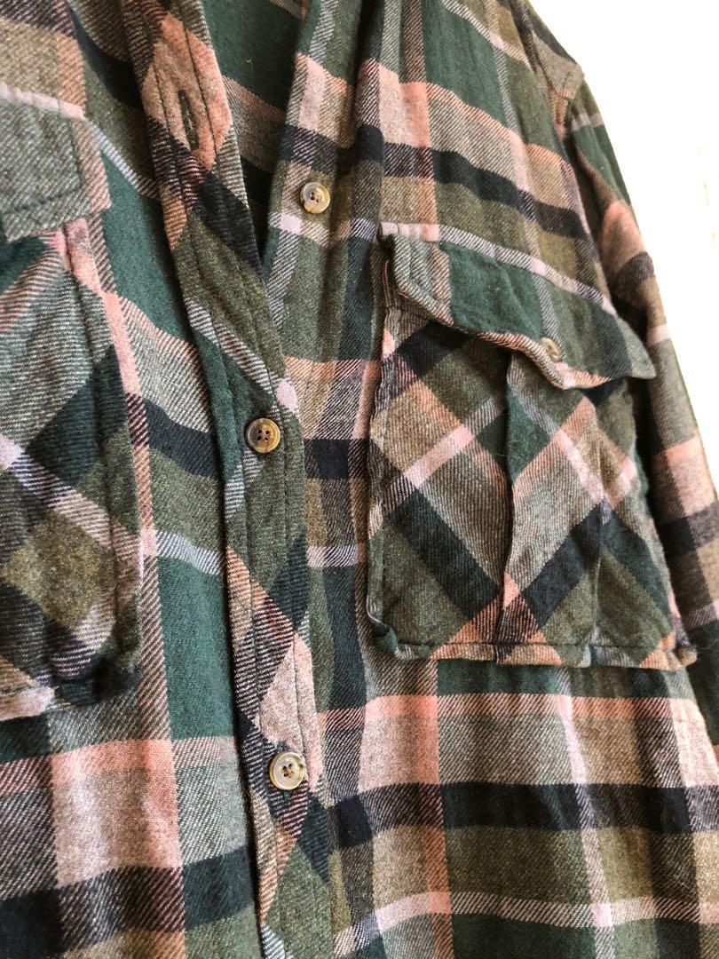Aritzia flannel shirt dress