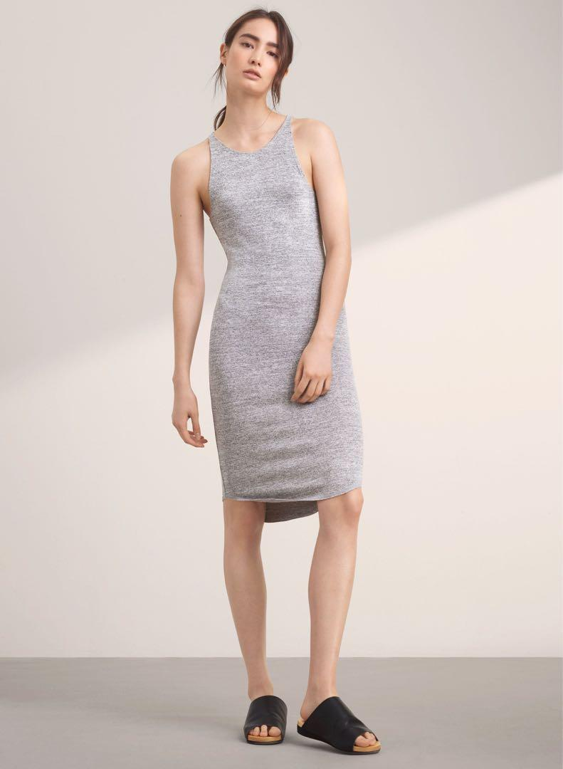 Aritzia Grey Yasmin Dress