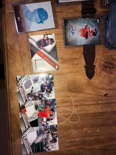Autographed card rookie cards and Hall of Fame cards Baseball