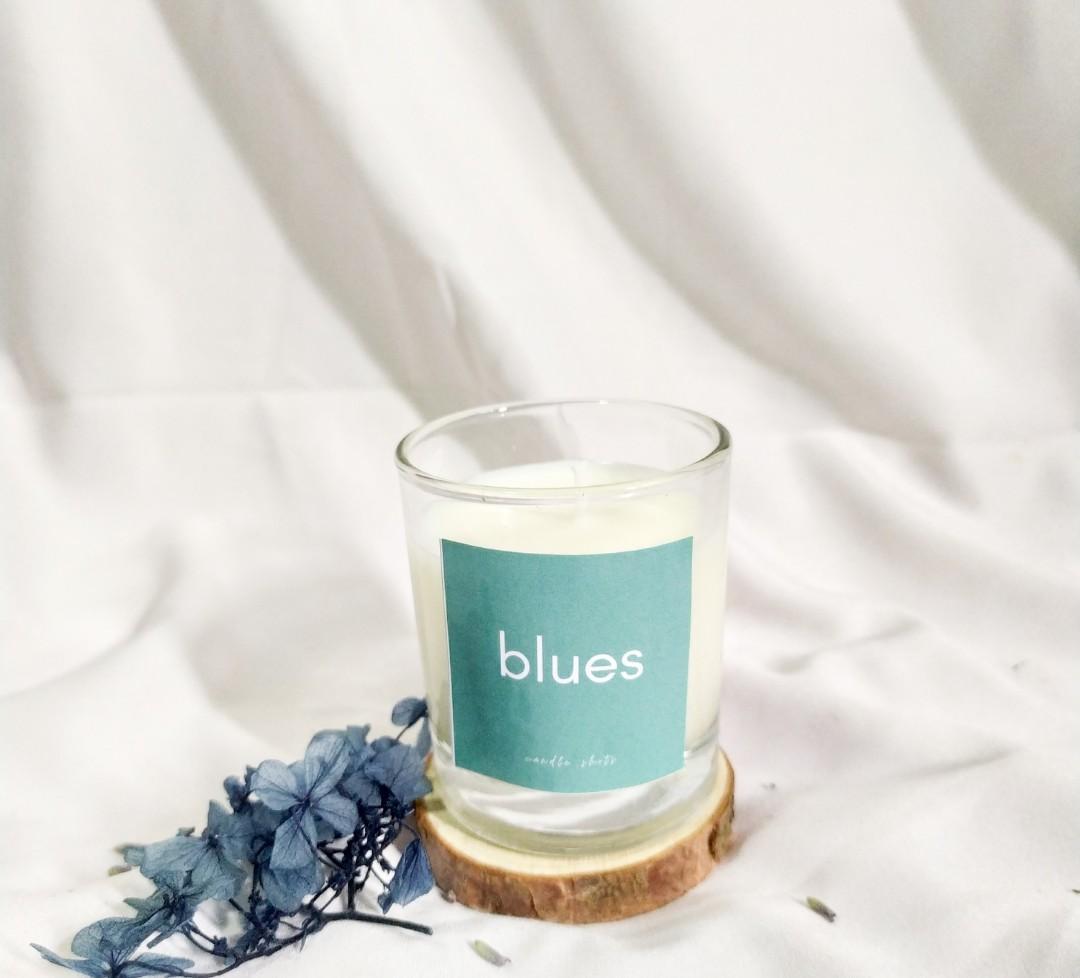 #carousell99 Candle Shots Lilin Aromaterapi Aroma Ocean Blue 60 gram