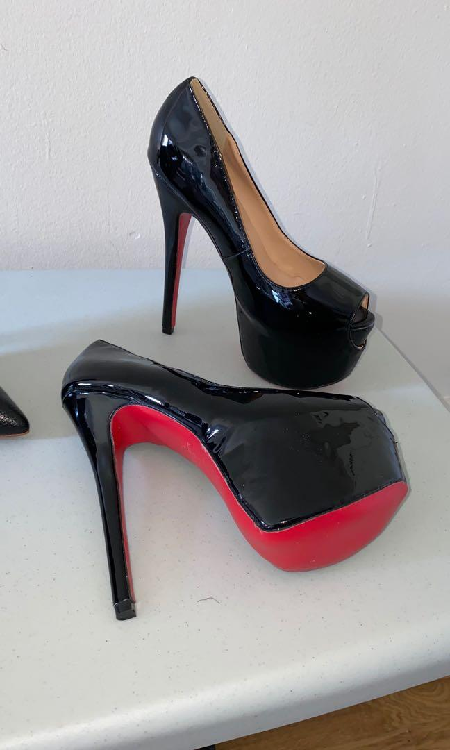Beautiful high heel shoes brand new size 37 Each: $50 or both for $80