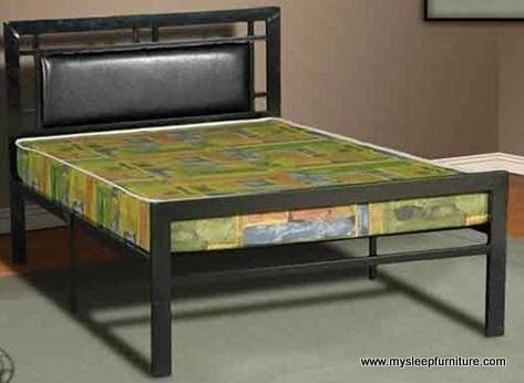 Black metal bed frame - double