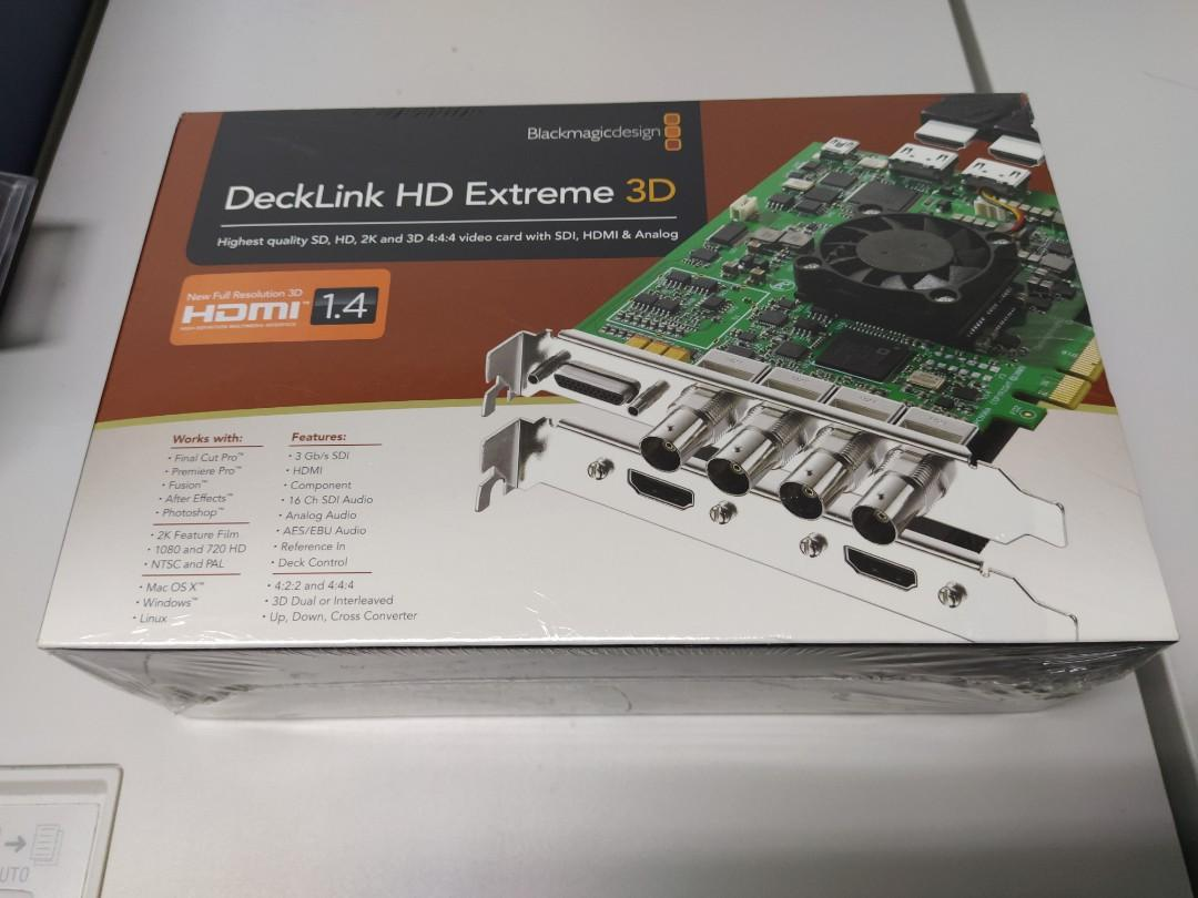 Blackmagic Design Decklink Hd Extreme 3d Electronics Computer Parts Accessories On Carousell